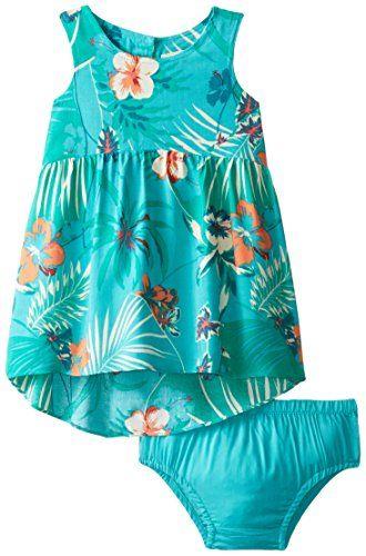 Roxy Baby Girls' Over Seas Dress, Wat…