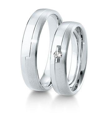 Breuning Trouwringen | Inspiration collectie gouden ringen | 5mm briljant 0.05ct verkrijgbaar in 8,14 en 18 karaat | 48041010 / 48041020 OOK in wit goud verkrijgbaar