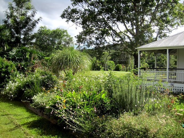 "I like the built up ""island"" of garden, surrounded by open lawn (high on Waz's wish list)."