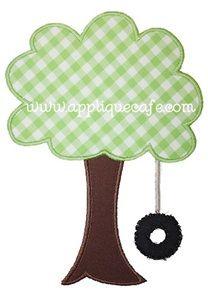 Tree Swing Applique Design