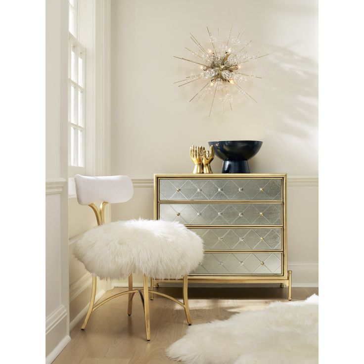 Cynthia Rowley Home Decor Collection: Curious Harlequin Four-Drawer Accent