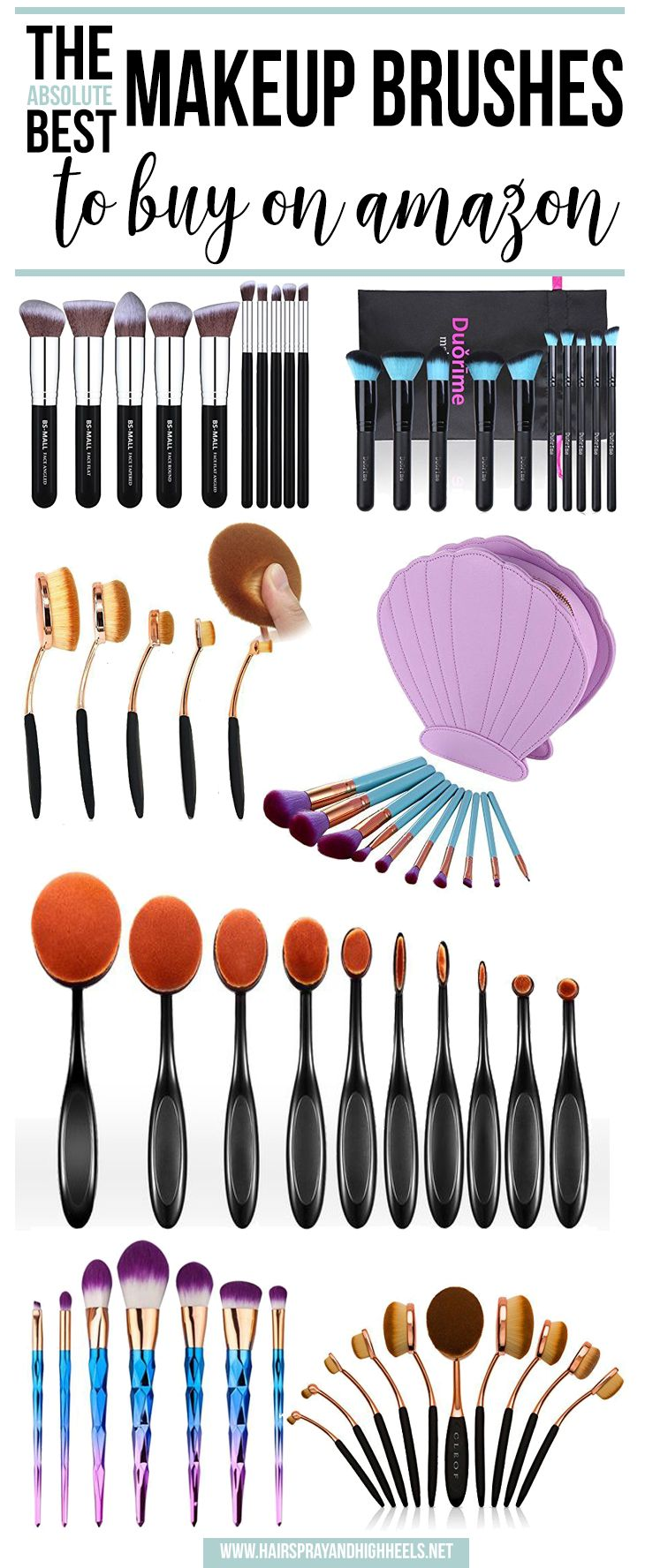 Stop everything you're doing right NOW! You have to check this post out. The ABSOLUTE BEST Makeup Brushes on Amazon!