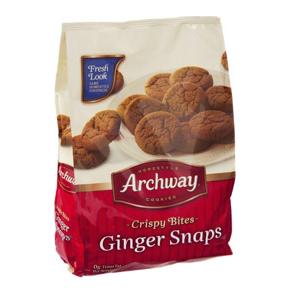 Archway Cookies Crispy Bites Ginger Snaps