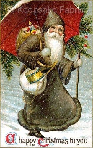 Olde World Santa Christmas Tree Quilt Block Multi Szs FrEE ShiPPinG WoRld WiDE