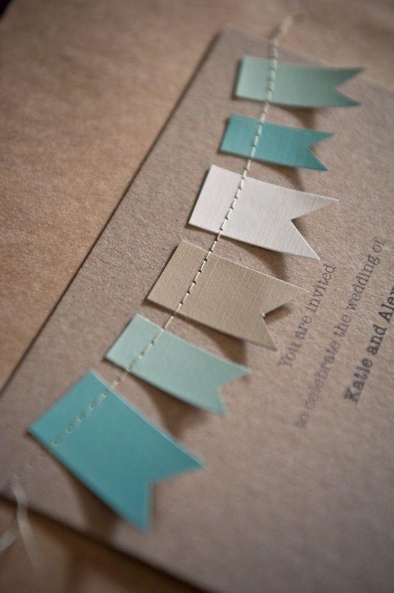 Cute idea for cards or invites.