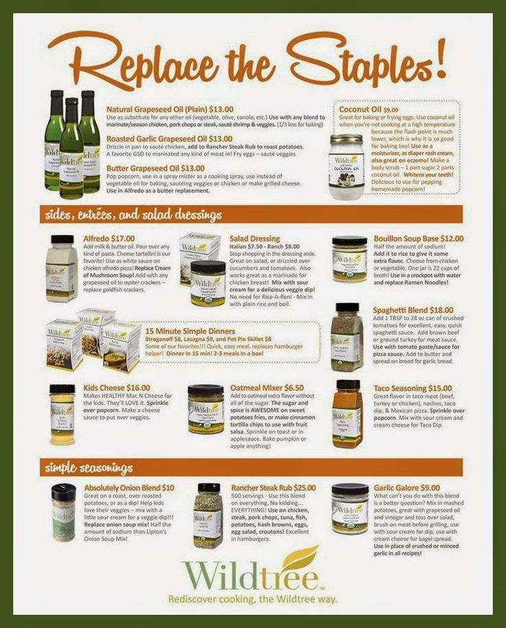 http://mywildtree.com/rachelaune. Cooking with Wildtree Foods: Organic Spices, Sauces & Grapeseed Oils