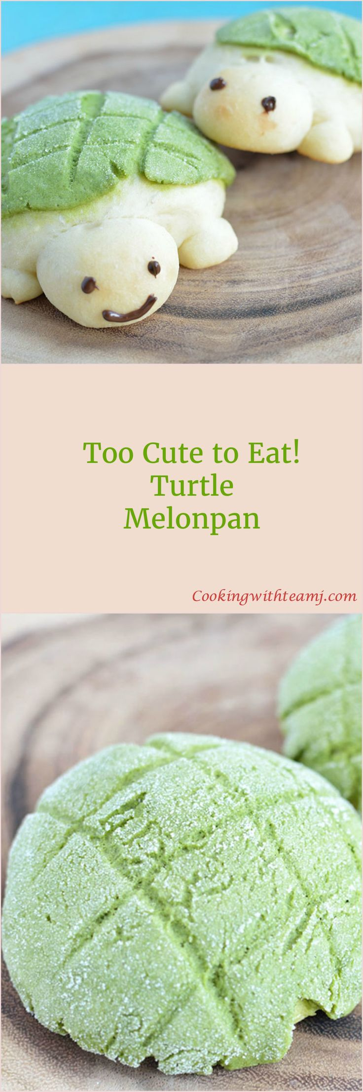 Do melonpan ever remind you of a turtle's back? It sure does to us - that's why we created the Turtle Melonpan. These guys are way too cute to eat!