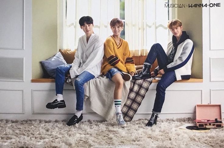 Minhyun, Daehwi, and Jinyoung for Musician