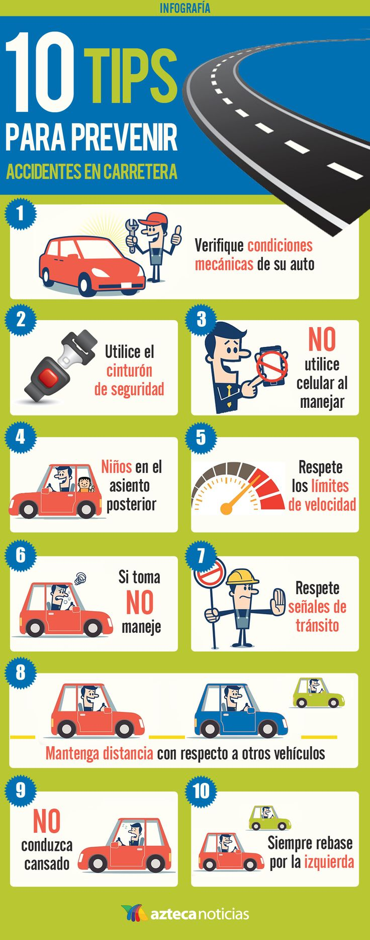 10 tips para prevenir accidentes en carrtera