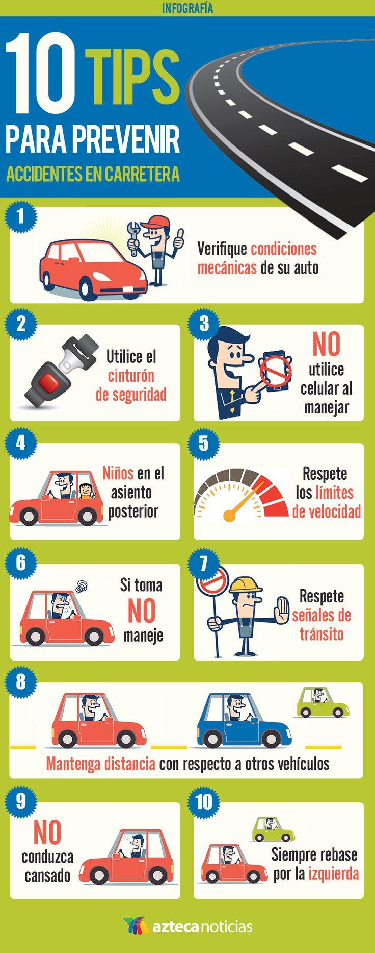 10 tips para prevenir accidentes en carrtera
