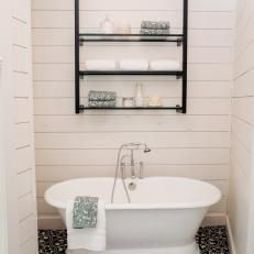 Renovated Bathroom With Pedestal Tub