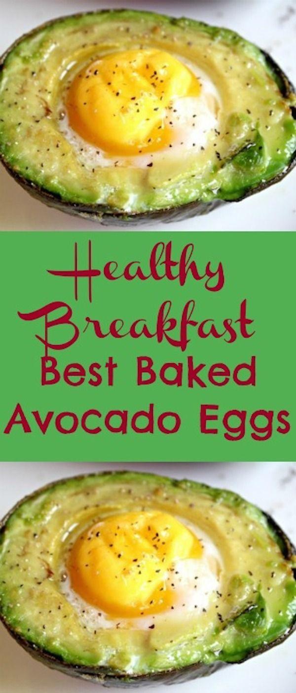 Best Breakfast Baked Avocado Eggs Recipe  See more http://recipesheaven.com/paleo