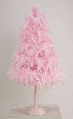 Small Pink Feather Tree Awwww Feathers Galore Pinterest Christmas And