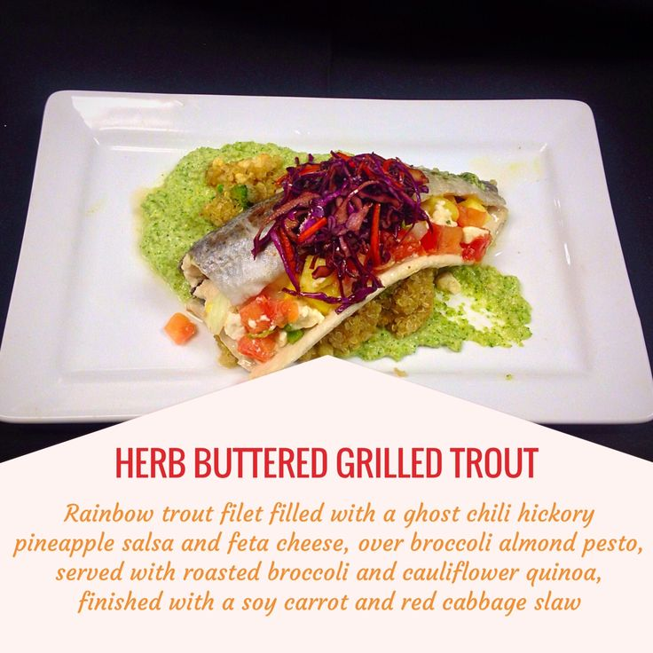 GRILLED TROUT -- Rainbow trout filed filled with a ghost chili ...