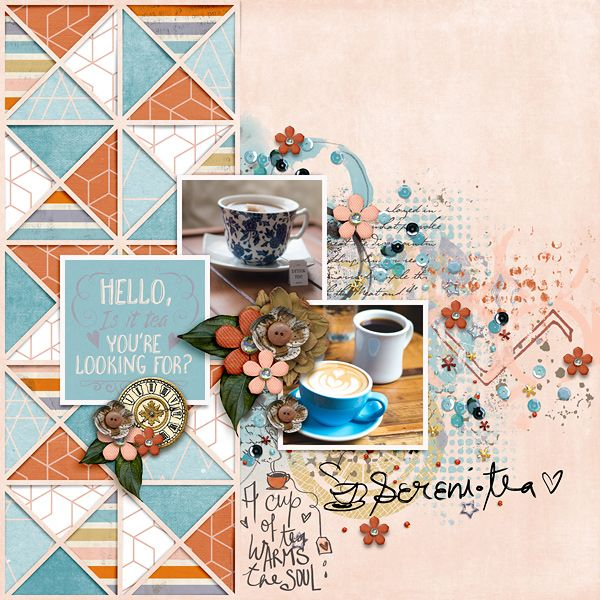 Sereni-tea {elements} by Little Butterfly Wings Sereni-tea {papers} by Little Butterfly Wings Sereni-tea {journal cards} by Little Butterfly Wings Cozy Whimsies by Bella Gypsy Love Triangles No. 5   Designed by Soco