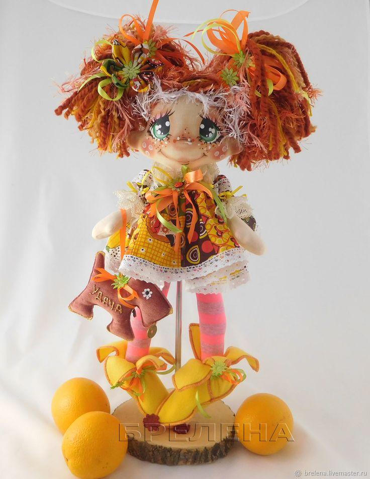 Купить Текстильная кукла Рыжик, рыжая Феечка. Интерьерная текстильная кукла - фея, рыжий