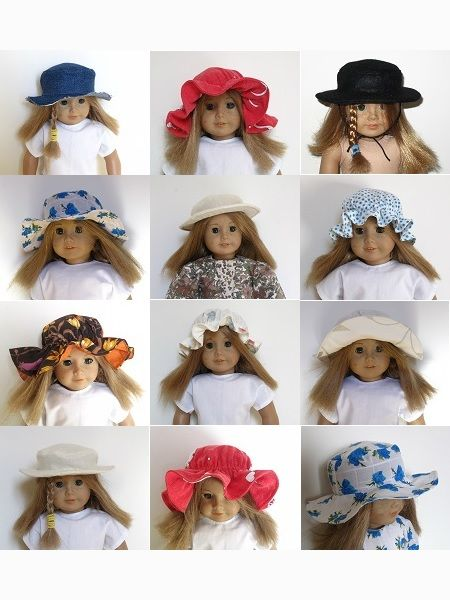 "I bought this pattern.   18"" American Girl Doll clothes sewing patterns to download- HAT COLLECTION"