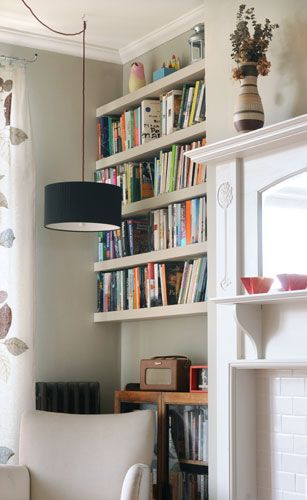 Pendant in a little reading nook-above chair.......Alcove Shelves - Alice
