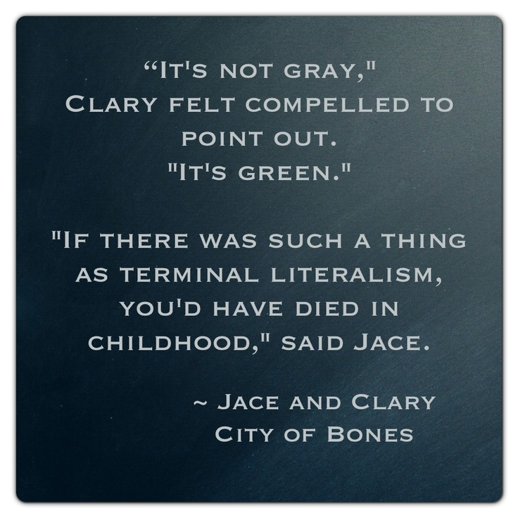 Jace and Clary | The Mortal Instruments: City of Bones | Book Series by Cassandra Clare |  #quote
