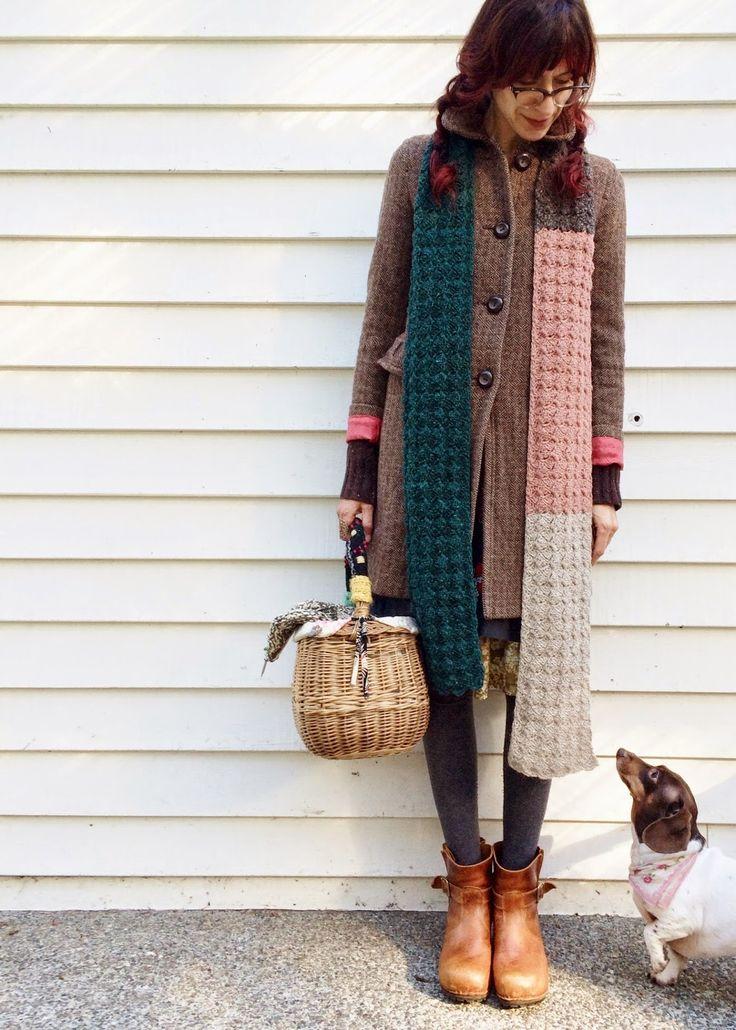 dottie angel: a 'woolly & warm & tres long' scarf recipe ...