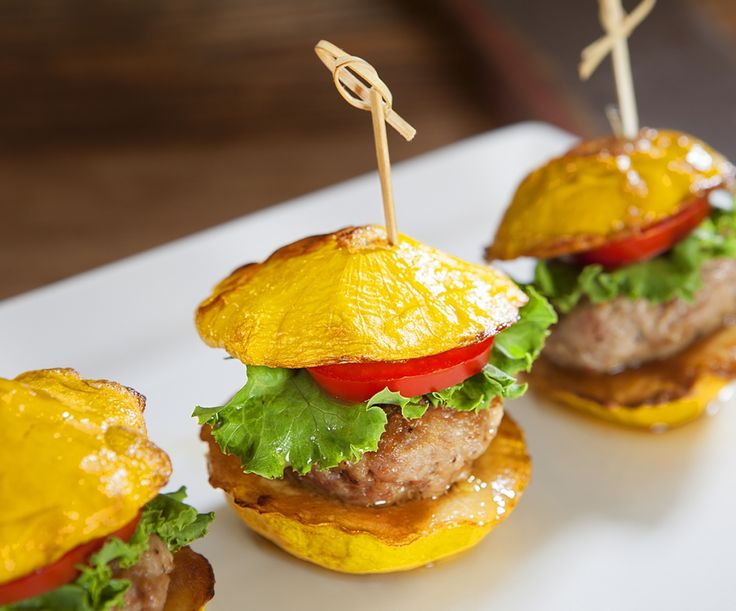Turkey sliders with squash for a bun!
