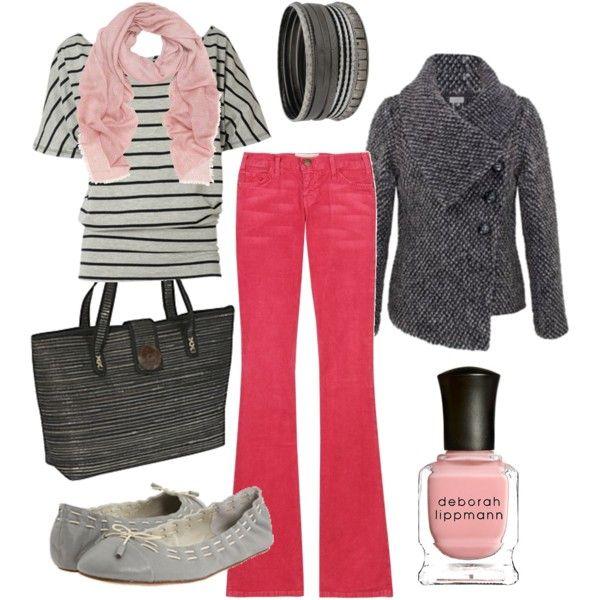 """hot pants"" by htotheb on PolyvorePink Pants Am, Colors Pants, Fashion Species Events, Colors Jeans, Red Jeans, Hot Pants, Jackets, Pink Jeans, Bold Colors"