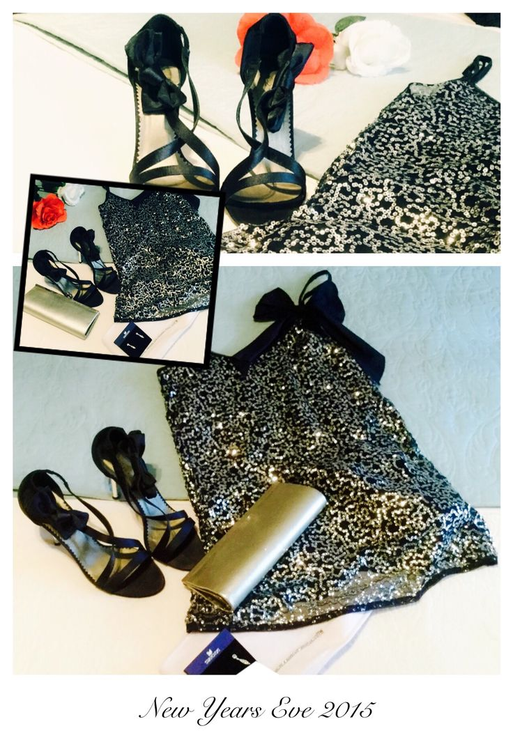 New Years Eve Outfit - Sparkles -Navy & White