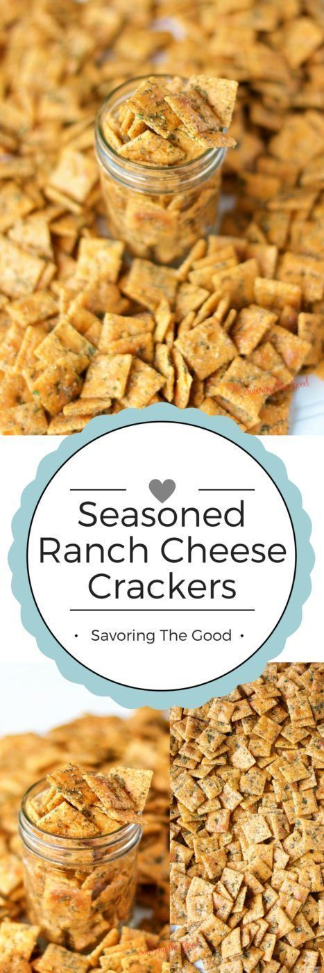 This recipe was even BETTER than the seasoned ranch oyster cracker recipe we had been using. Why? Because of the cheese crackers. They added one more layer of cheese goodness to the flavors we had already become addicted to.