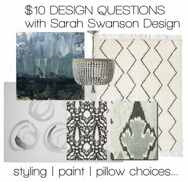 10.00 design questions with Sarah Swanson Design! Pillows, styling, art..: Color