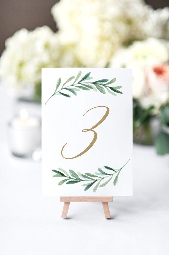 table numbers wedding table number printed table number script