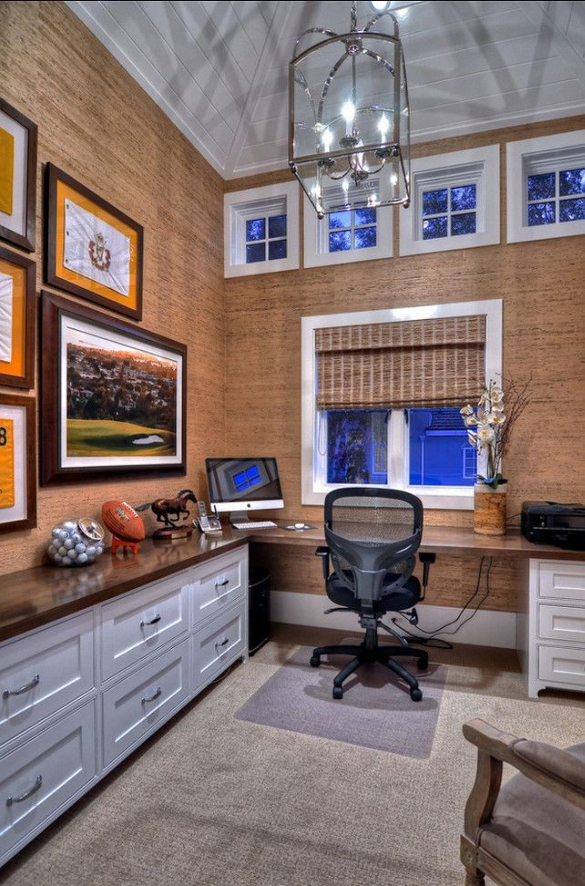 Home Office Ideas. Wall Covering in this home office is