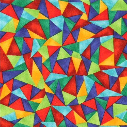 colorful fun triangle fabric Luminosity Brite Blank Quilting USA 1