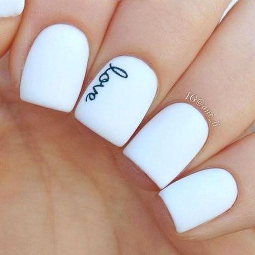 white nail polish designs 14 designs - Nail Polish Design Ideas