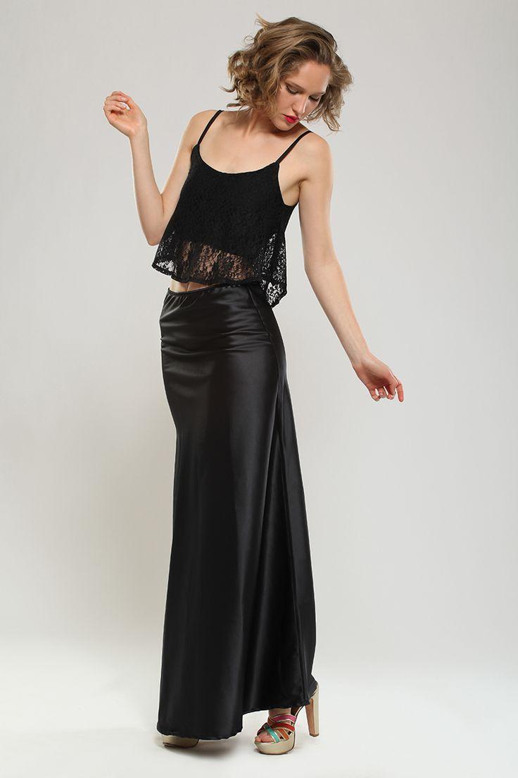 top + maxi falda