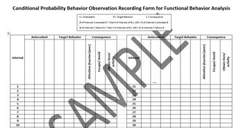FBA Conditional Probability Behavior Observation Form