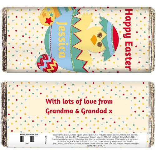 212 best easter gifts images on pinterest easter gift brand new personalised dotty easter chocolate bar from personalised gifts shop only 599 negle Images