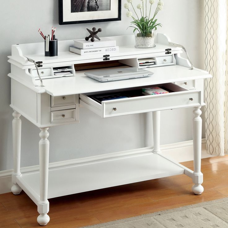 Best 25 secretary desks ideas on pinterest painted for Small pull out desk