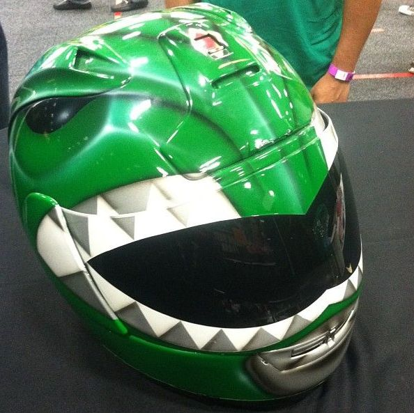 green power ranger motorcycle helmet
