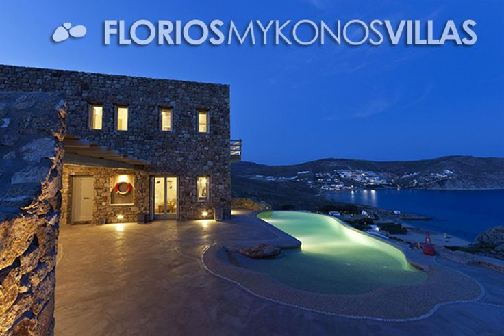 In front of the Villa for Rent, there is a private lagoon-like infinity swimming pool, next to a large wooden shaded pergola offering a stunning sea view & total privacy. FMV1482 Villa for Rent on Mykonos island Greece. http://florios-mykonos-villas.com/property/fmv1482/