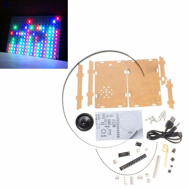 16x12 DIY Electronic LED Flash Kit Music Spectrum Frequency With Power Amplifier  | eBay