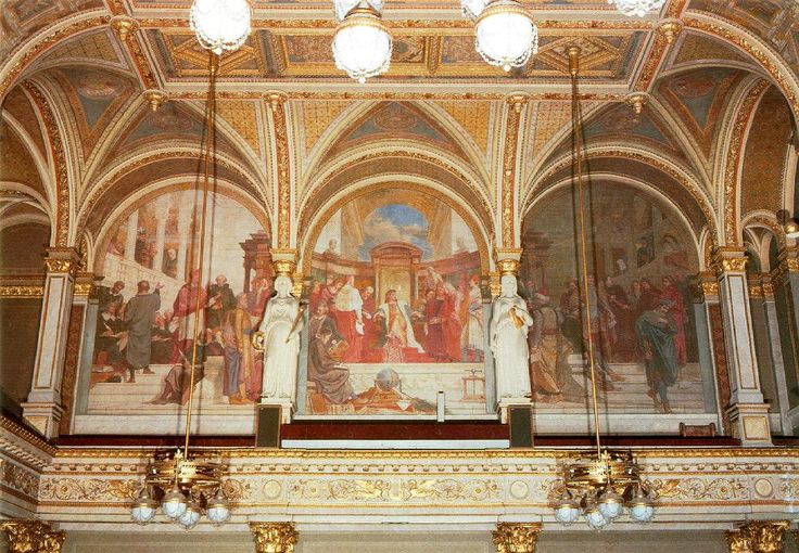 Károly Lotz (1833-1904) Wall painting (1887-91) Fresco - Lotz Károly (festő) – Wikipédia Díszterem, MTA Budapest
