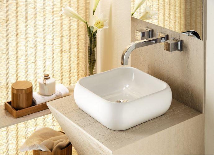 25+ melhores ideias sobre Cuba quadrada no Pinterest  Cuba de banheiro quadr -> Cuba Para Banheiro De Semi Encaixe Branca Icasa