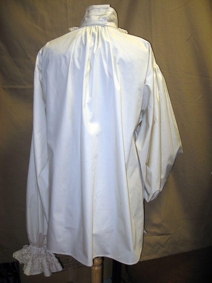 Camisa s. XVIII. Patrón fiel al original de la época. Vista trasera