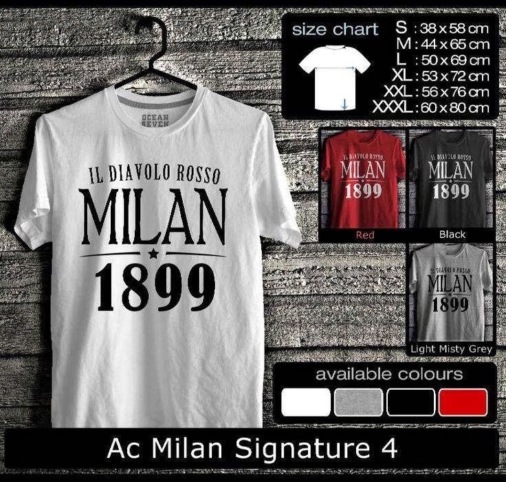 Kaos AC Milan FootBall Club   Kaos Milanisti 1