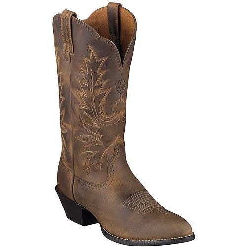 "These Heritage R Toe western boots by Ariat are a great pair of all-around boots. Made with thick durable full-grain leather that will last through almost anything with the proper care! The 12"" shaft"