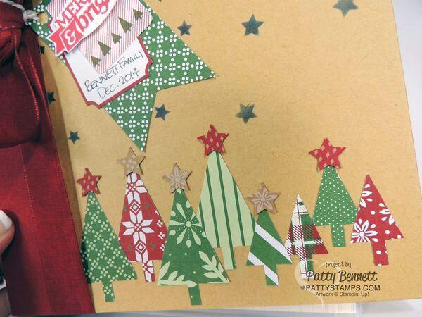 Witte kerstbomen als tussenpagina