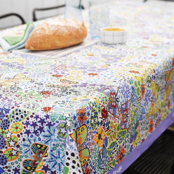Oilcloth designed by famous Danish illustrator Esben Hanefelt.