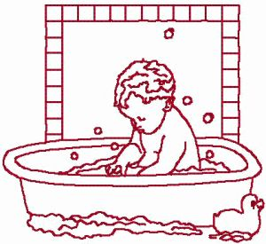 Baby bath time embroidery designs and embroidery on pinterest for Bathroom embroidery designs
