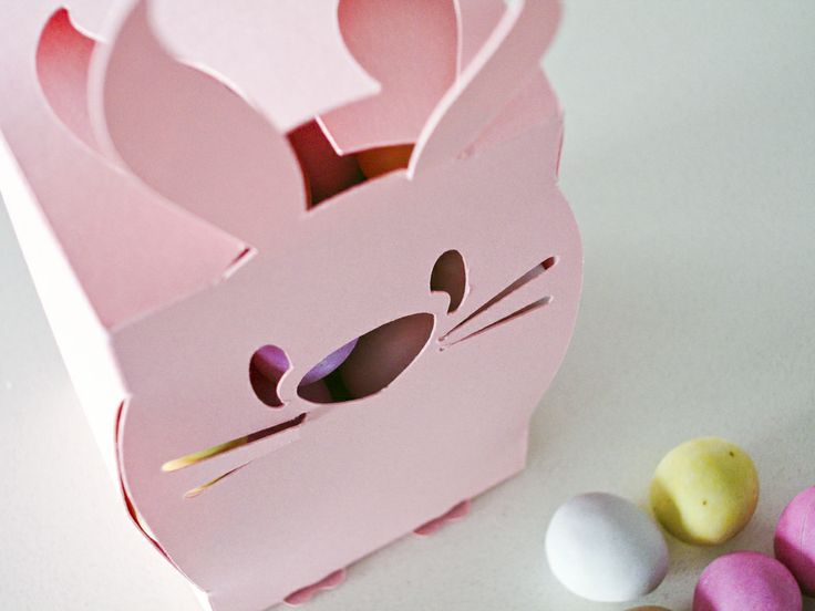 Easter Bunny Gift Boxes – 2 Pack – Pink
