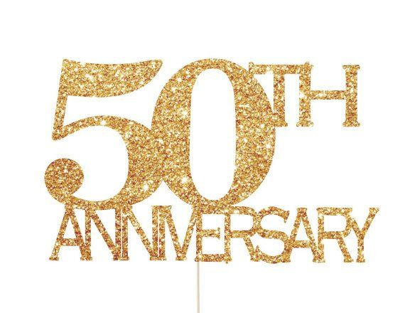 50th anniversary cake topper - 50th wedding anniversary